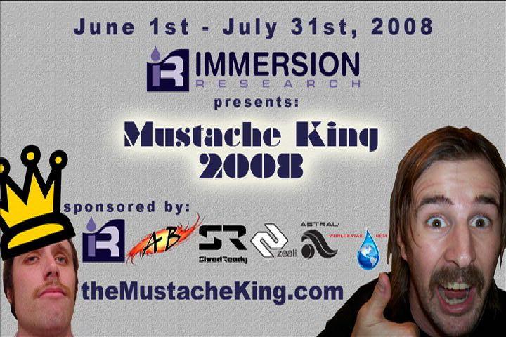 mustache title card