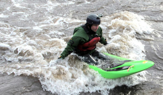 Photo: Joey Hall, Hocus Pocus Creative - Adam Bellyak Surfs on the French Broad River