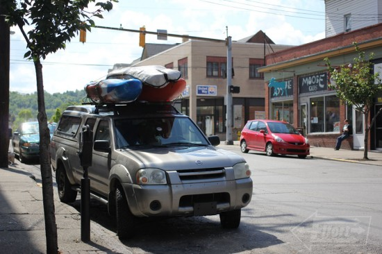 Morgantown WV - Our boats impatiently waiting for us to take them to the Big Sandy