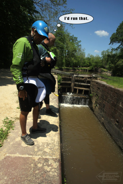 The boys check out a lock that used to fill and drain regularly to move boats up and down the river.  Some of the locks are still operational and a well maintained path runs along the entire length of the canal for recreational use.