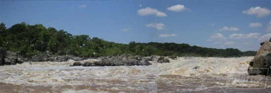 Great Falls at flood stage.