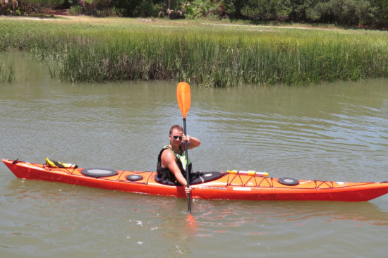 Paddling with the Accent Premier Edge at Fripp Island